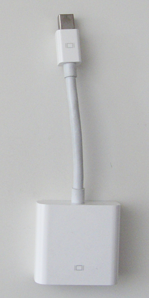Apple Mini DisplayPort-VGAアダプタ